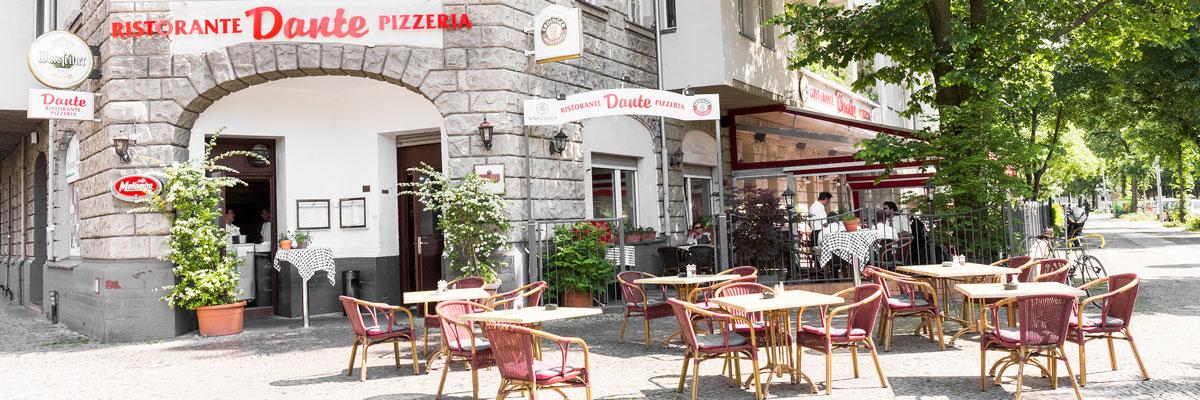 Dante Restaurant Berlin Italiener Ristaurante Pizzeria Eingang